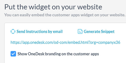 Adding Customer Apps on Your Site