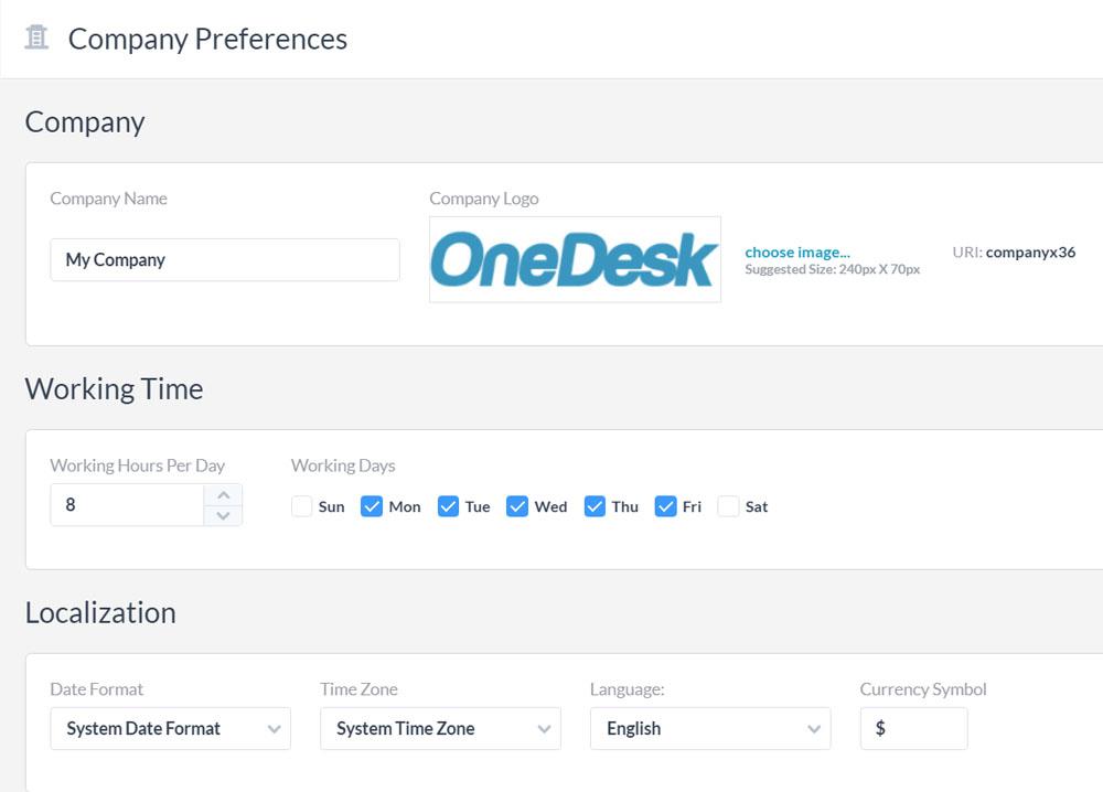 Company Preferences