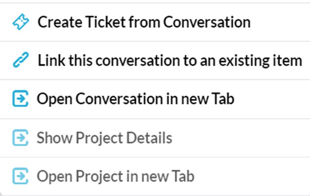 Conversation to Ticket
